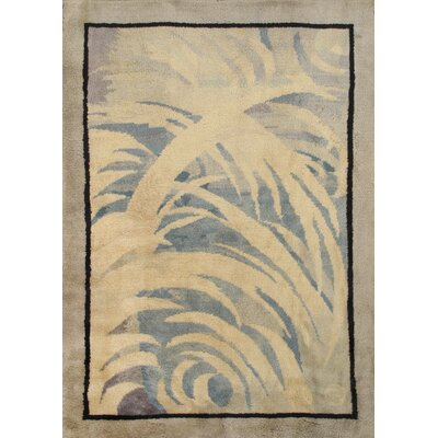 Deco Antique Art Hand Knotted Wool Gray/Beige Area Rug