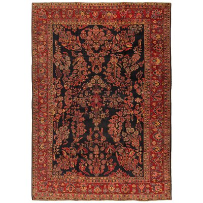 Sarouk Antique Hand Knotted Wool Navy/Red Area Rug