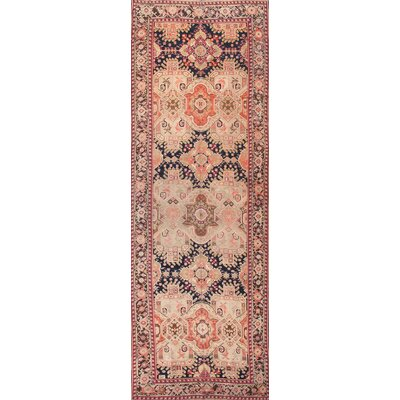 Karabakh Antique Hand Knotted Wool Navy/Brown Area Rug