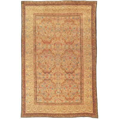 Ravar Antique Hand Knotted Wool Camel Area Rug
