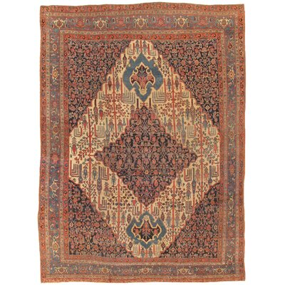 Bidjar Antique Hand Knotted Wool Ivory Area Rug