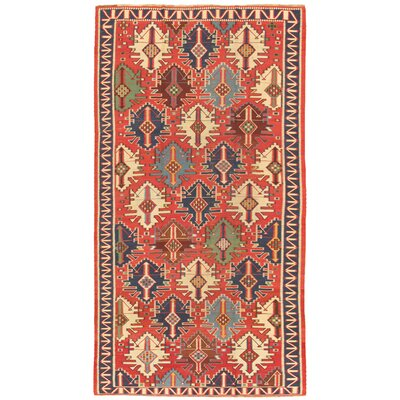 Kilim Antique Hand Woven Wool Rust/Ivory Area Rug