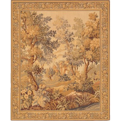 Tapestry Hand Knotted Wool Ivory/Toupe Area Rug