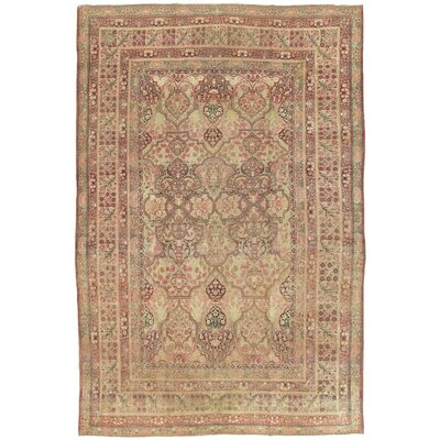 Kermanshah Antique Hand Knotted Wool Ivory Area Rug