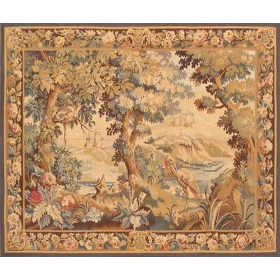 Tapestry Hand Knotted Wool Brown Area Rug