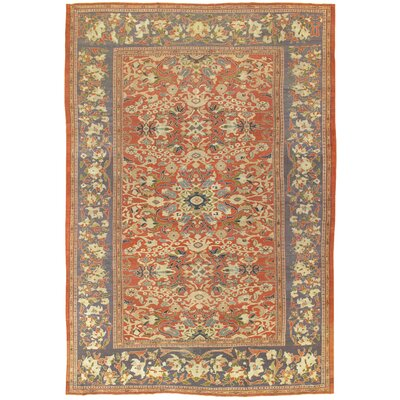 Sultanabad Antique Hand Knotted Wool Rust/Purple Area Rug