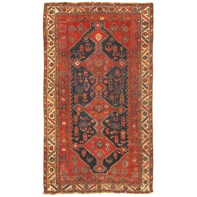 Shiraz Antique Hand Knotted Wool Rust/Ivory Area Rug