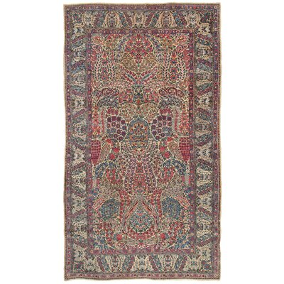Lavar Antique Hand Knotted Wool Red/Ivory Area Rug