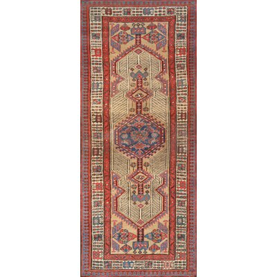 Serab Antique Hand Knotted Wool Camel/Red Area Rug
