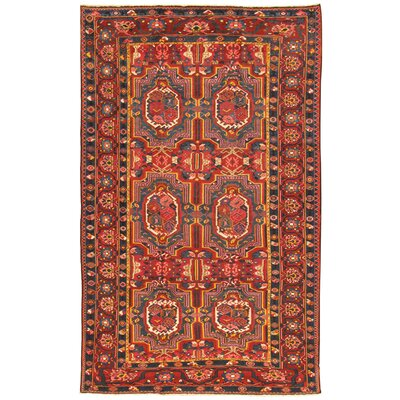 Bakhtiari Antique Hand Knotted Wool Red/Navy Area Rug