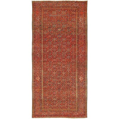 Malayer Antique Hand Knotted Wool Navy/Rust Area Rug