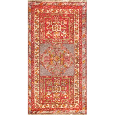 Kaysery Antique Hand Knotted Wool Red/Beige Area Rug
