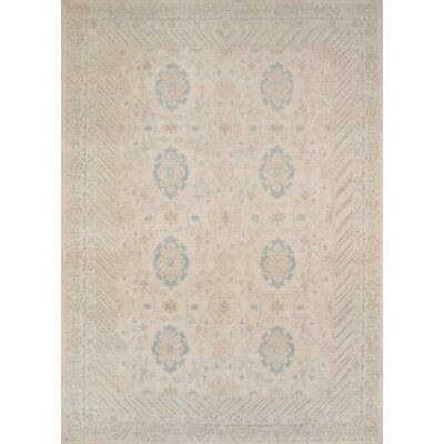 Khotan Hand Knotted Pure Wool Ivory Area Rug