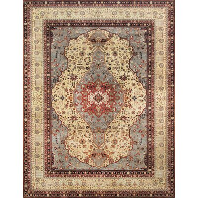 Ferehan Hand Knotted Wool Beige/Red Area Rug