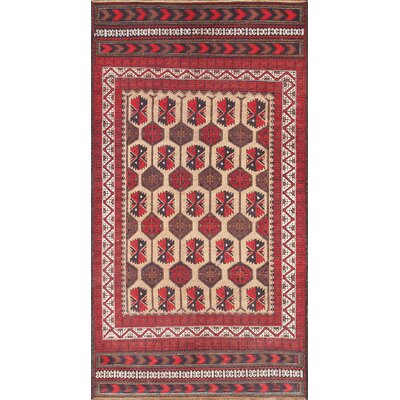 Balouch Vintage Hand Knotted Wool Camel/Ivory Area Rug