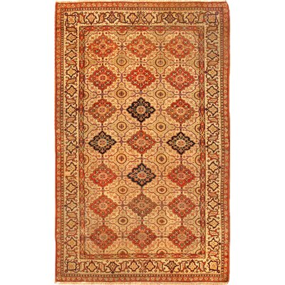Ferehan Antique Hand Knotted Wool Beige Area Rug