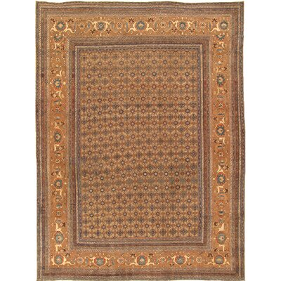 Bibikabad Antique Hand Knotted Wool Camel Area Rug