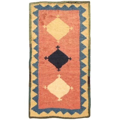 Gabbeh Antique Hand Knotted Wool Salmon/Beige Area Rug