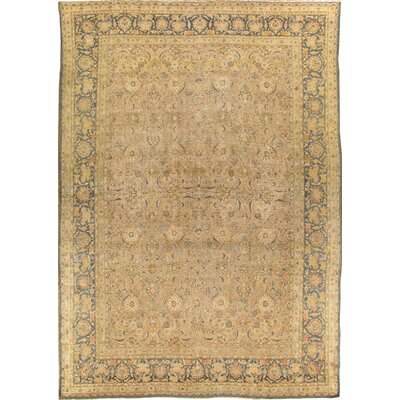 Tabriz Antique Hand Knotted Wool Beige Area Rug