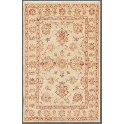 Ferehan Hand Knotted Wool Beige Area Rug