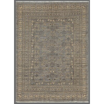 Khotan Hand Knotted Wool Gray Area Rug