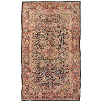 Lavar Antique Hand Knotted Wool Red Area Rug
