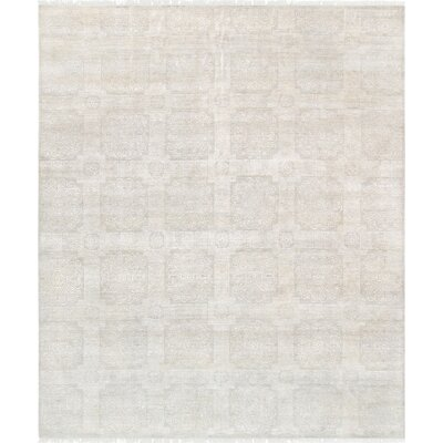 Transitional Hand Knotted Wool Ivory Area Rug