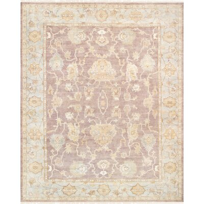 Oushak Hand Knotted Wool Beige Area Rug