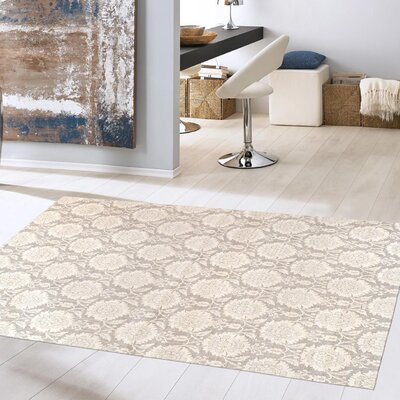Modern Hand Loomed Sari Silk Gray Area Rug