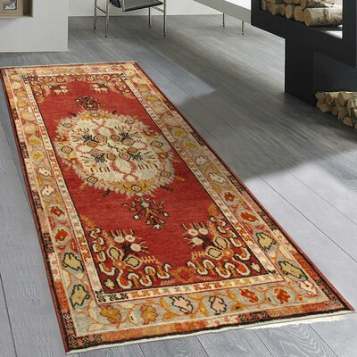 Sivas Vintage Hand Knotted Wool Coral/Beige Area Rug