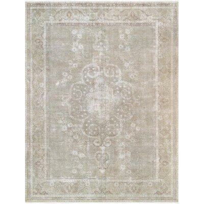 Vintage Overdye Hand-Knotted Wool Green/Beige Area Rug