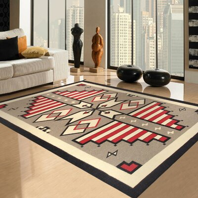 Navajo Lambs Hand-Woven Wool Red/Brown Area Rug Rug Size: 6 x 9