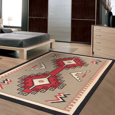 Navajo Lambs Hand-Woven Wool Brown/Red Area Rug