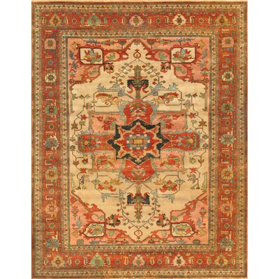 Serapi Hand Knotted Wool Ivory/Rust Area Rug