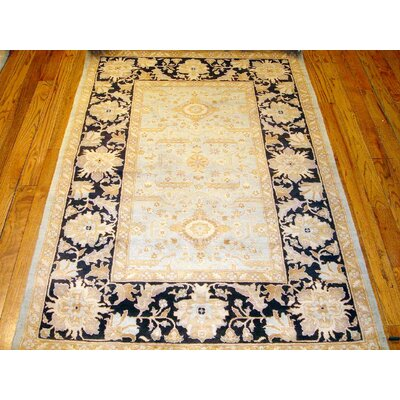 Tabriz Hand Knotted Wool Blue/Beige Area Rug