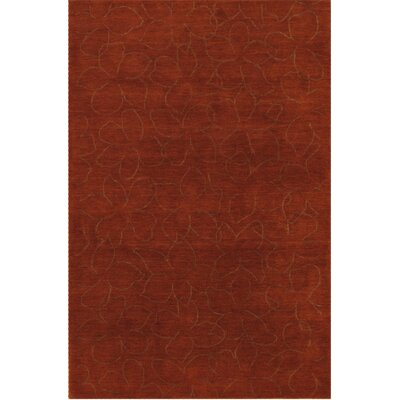 Modern Hand Loomed Wool Copper Area Rug