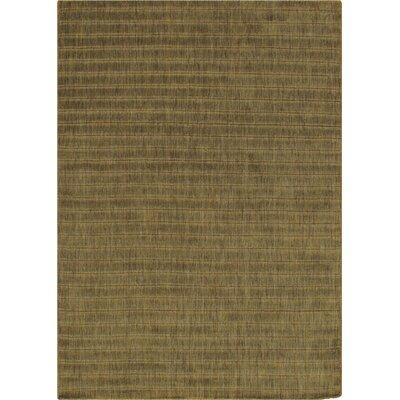 Modern Hand Loomed Wool Green Area Rug