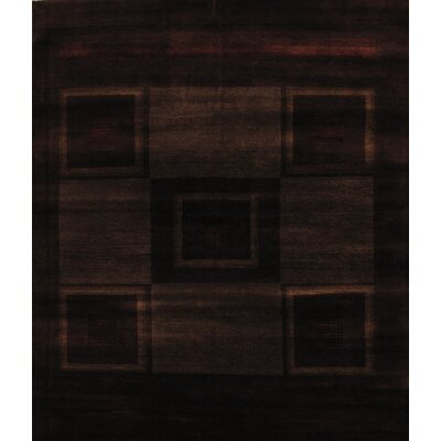 Gabbeh Hand Knotted Wool Brown Area Rug