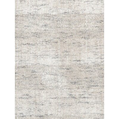 Transitiona Texture Hand Loomed Silk Beige Area Rug