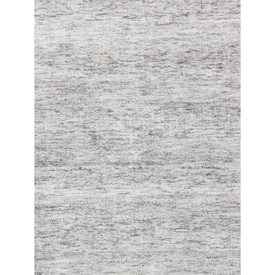 Transitiona Texture Hand Loomed Silk Ivory Area Rug