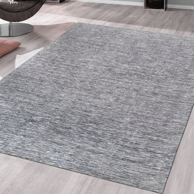 Transitiona Texture Hand Loomed Gray Area Rug