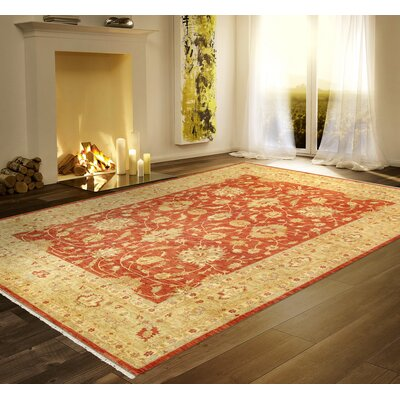 Ferehan Hand-Knotted Rust/Gold Area Rug