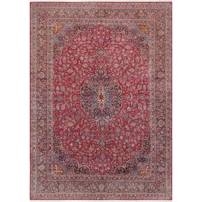 Kashan Antique Hand-Knotted Wool Red/Brown Area Rug