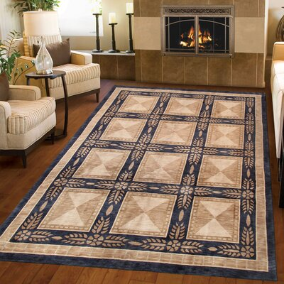 Tibetan Hand-Knotted Wool Beige/Black Area Rug Rug Size: Rectangle 511 x 96