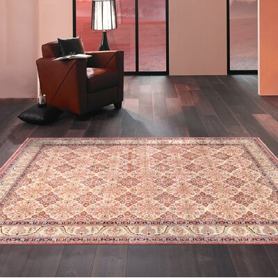Lavar Hand-Knotted Wool Beige/Ivory Area Rug