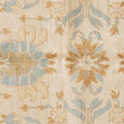 Tabriz Hand-Knotted Wool Ivory/Light Blue Area Rug