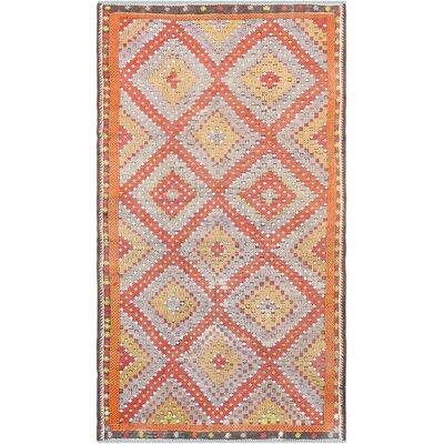 Vintage Kilim Hand-Woven Wool Rust/Beige Area Rug