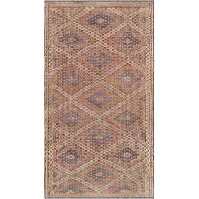 Vintage Kilim Hand-Woven Wool Beige Area Rug