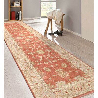 Oushak Hand-Knotted Wool Rust/Ivory Area Rug