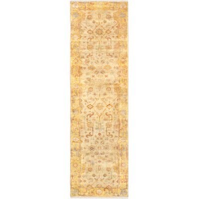 Oushak Hand-Knotted Wool Ivory/Gold Area Rug